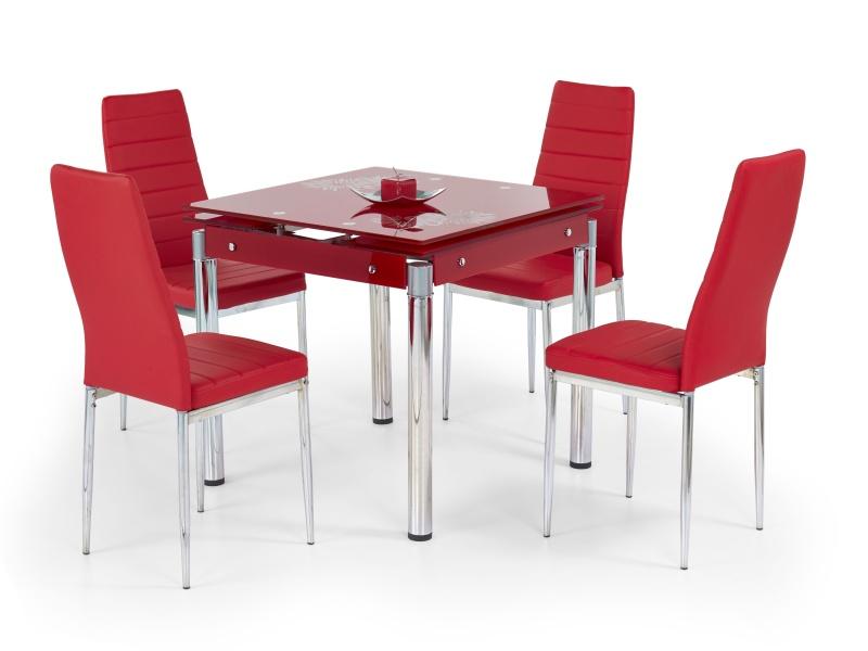 Halmar Jídelní stůl rozkládací KENT, červený
