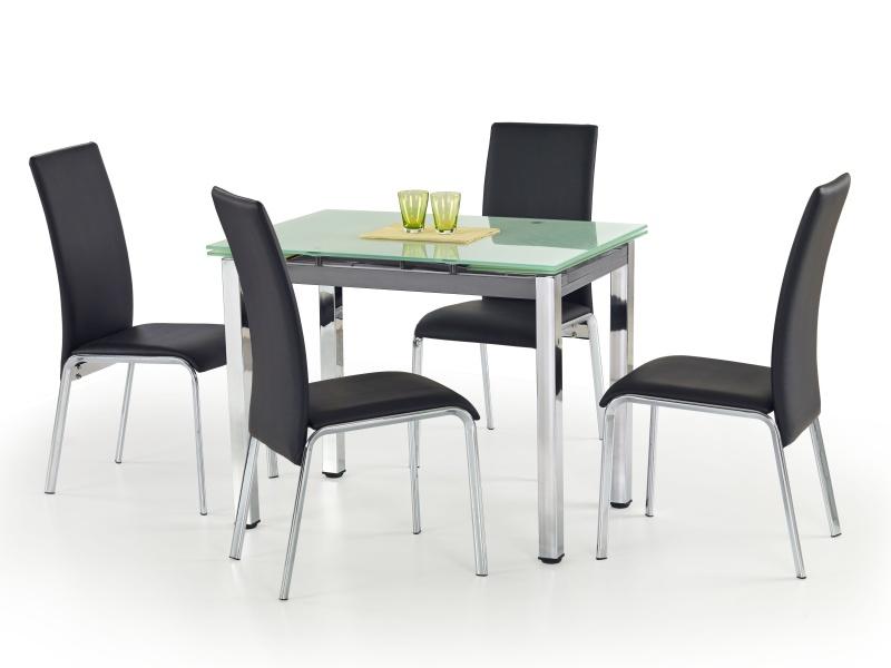 Halmar Jídelní stůl rozkládací LOGAN, mléčné sklo