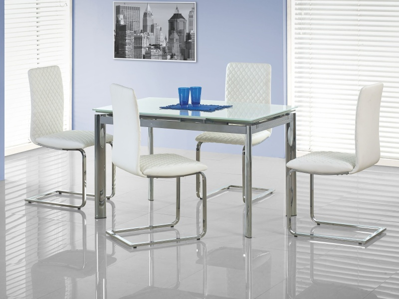 Jídelní stůl rozkládací LAMBERT, bílý