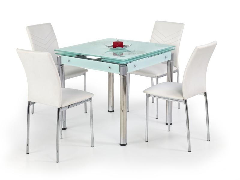 Halmar Jídelní stůl rozkládací KENT, mléčné sklo