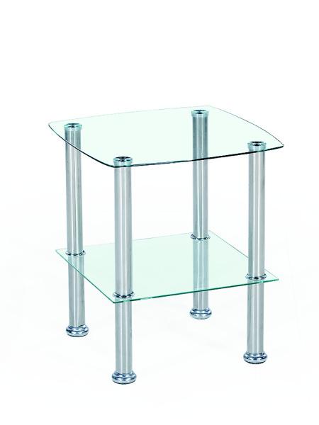 Konferenční stolek SHERATAN, kov/sklo