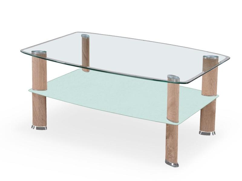 Halmar Konferenční stolek ASTRA, mléčné sklo