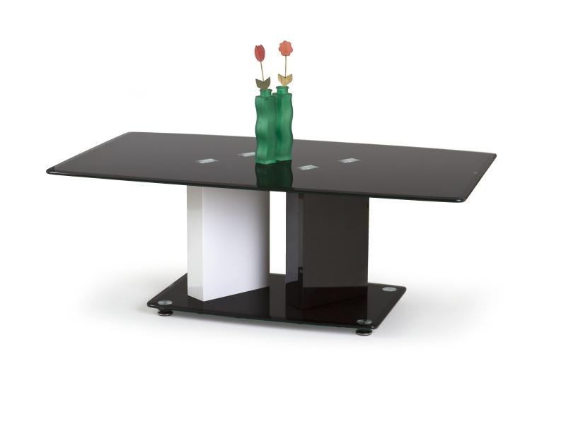 Halmar Konferenční stolek DEBRA, bílá/černá