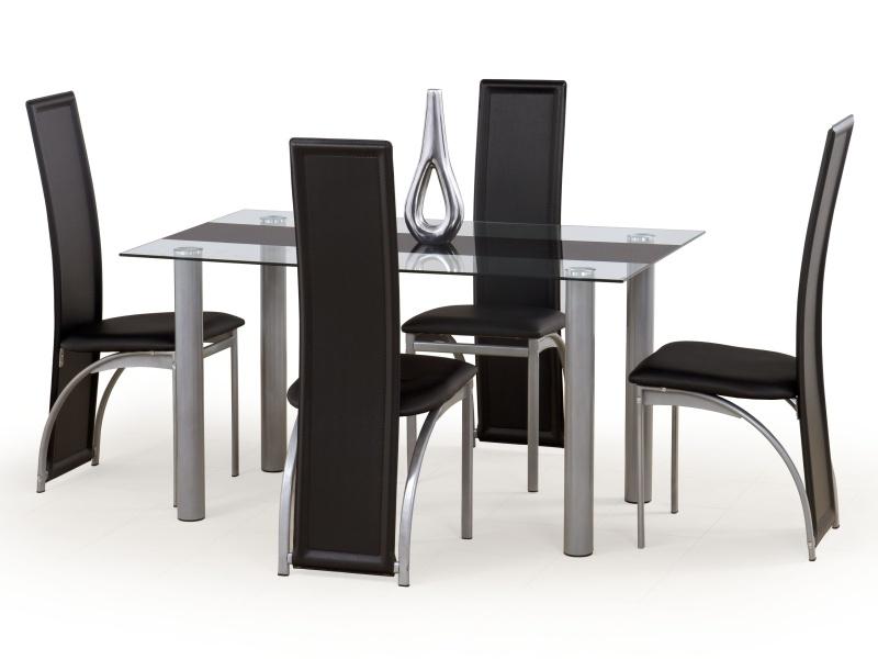 Halmar Jídelní stůl TALON, černý pás
