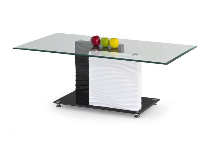 Halmar Konferenční stolek SHANELL, bílá/černá