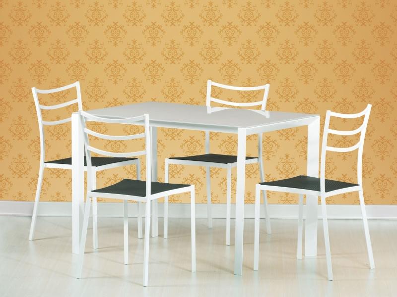 Halmar Jídelní stůl FRED, kov/sklo