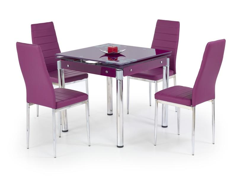 Halmar Jídelní stůl rozkládací KENT, fialový