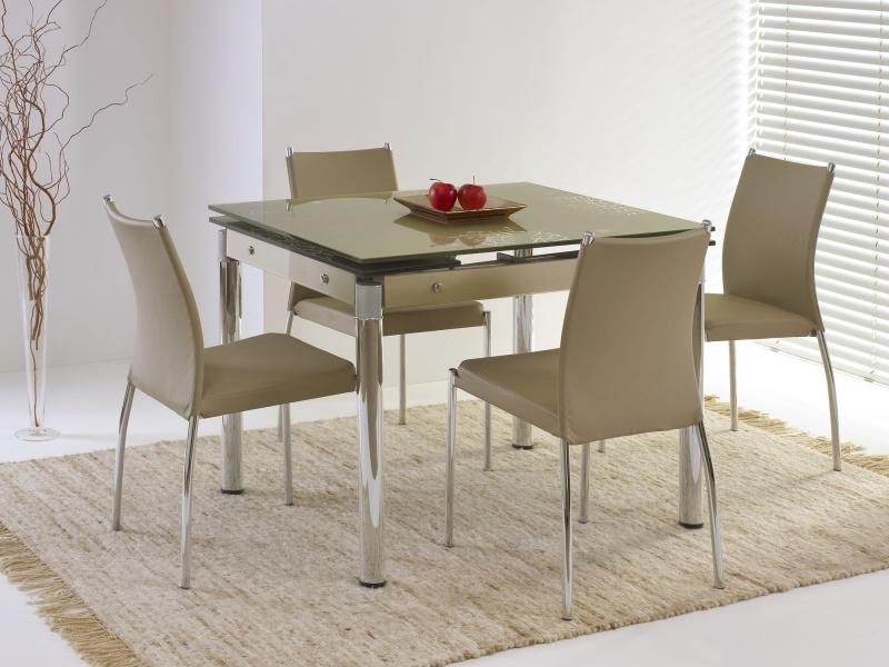 Halmar Jídelní stůl rozkládací ELTON, kov/sklo