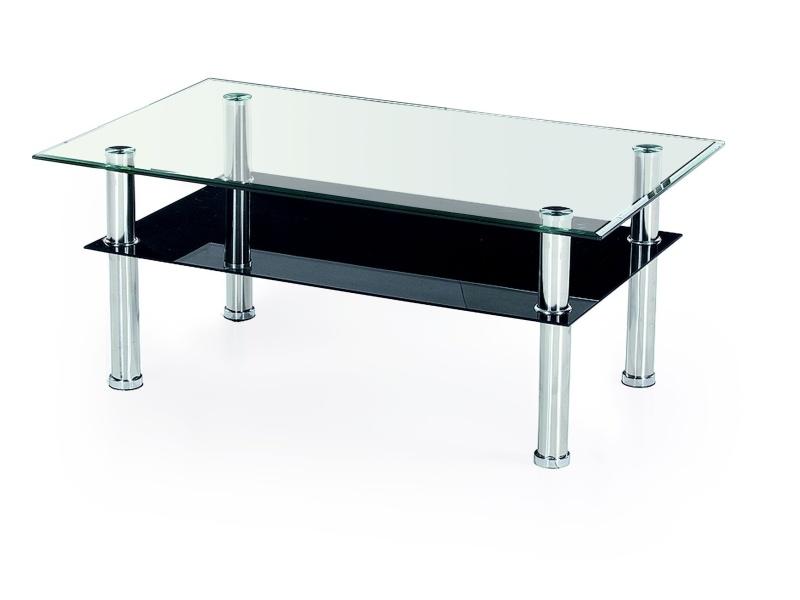 Konferenční stolek MAKOLE, kov/sklo