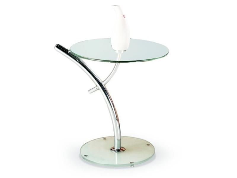 Konferenční stolek TAMBELAN, kov/sklo