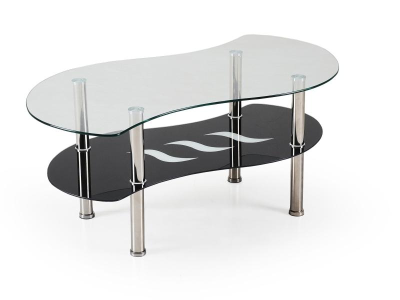 Konferenční stolek RAU, kov/sklo