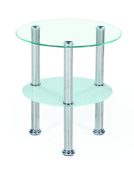Konferenční stolek TUKANGBESI, kov/sklo