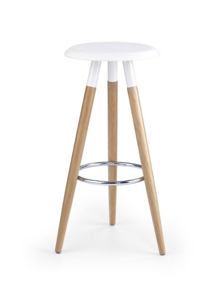 Halmar Barová židle H-50, bílá/buk
