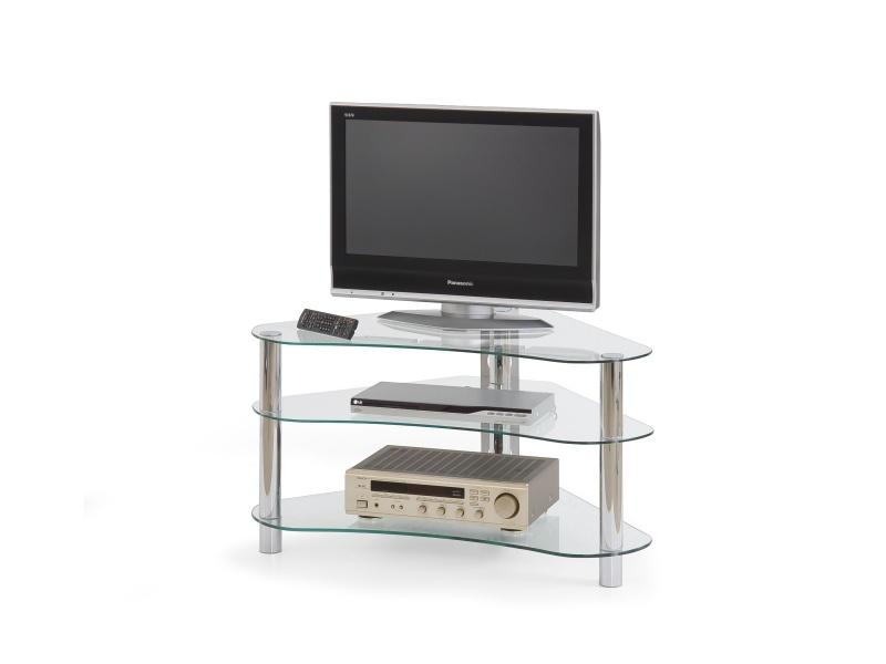 Halmar Televizní stolek RTV-13, sklo čiré