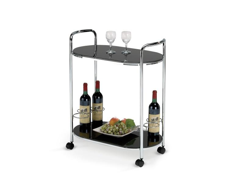 Halmar Barový stolek BAR-3, černý