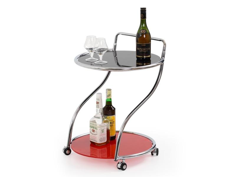 Halmar Barový stolek BAR-6, černá/červená