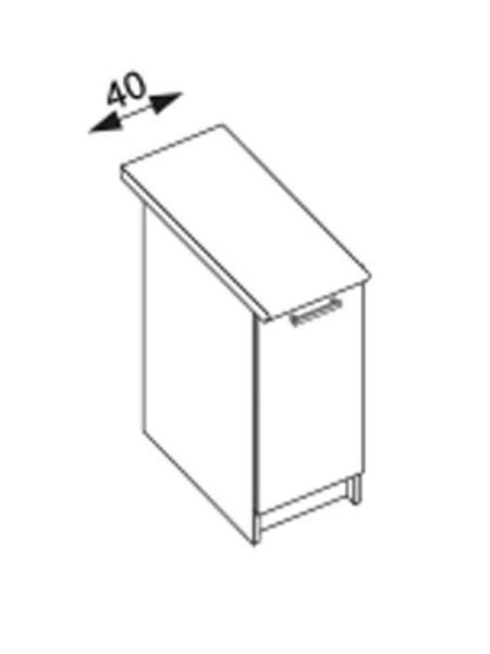 Halmar AMANDA 1, dolní skříňka D40, ořech viva