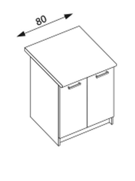 Halmar AMANDA 2, dolní skříňka D80, ořech viva