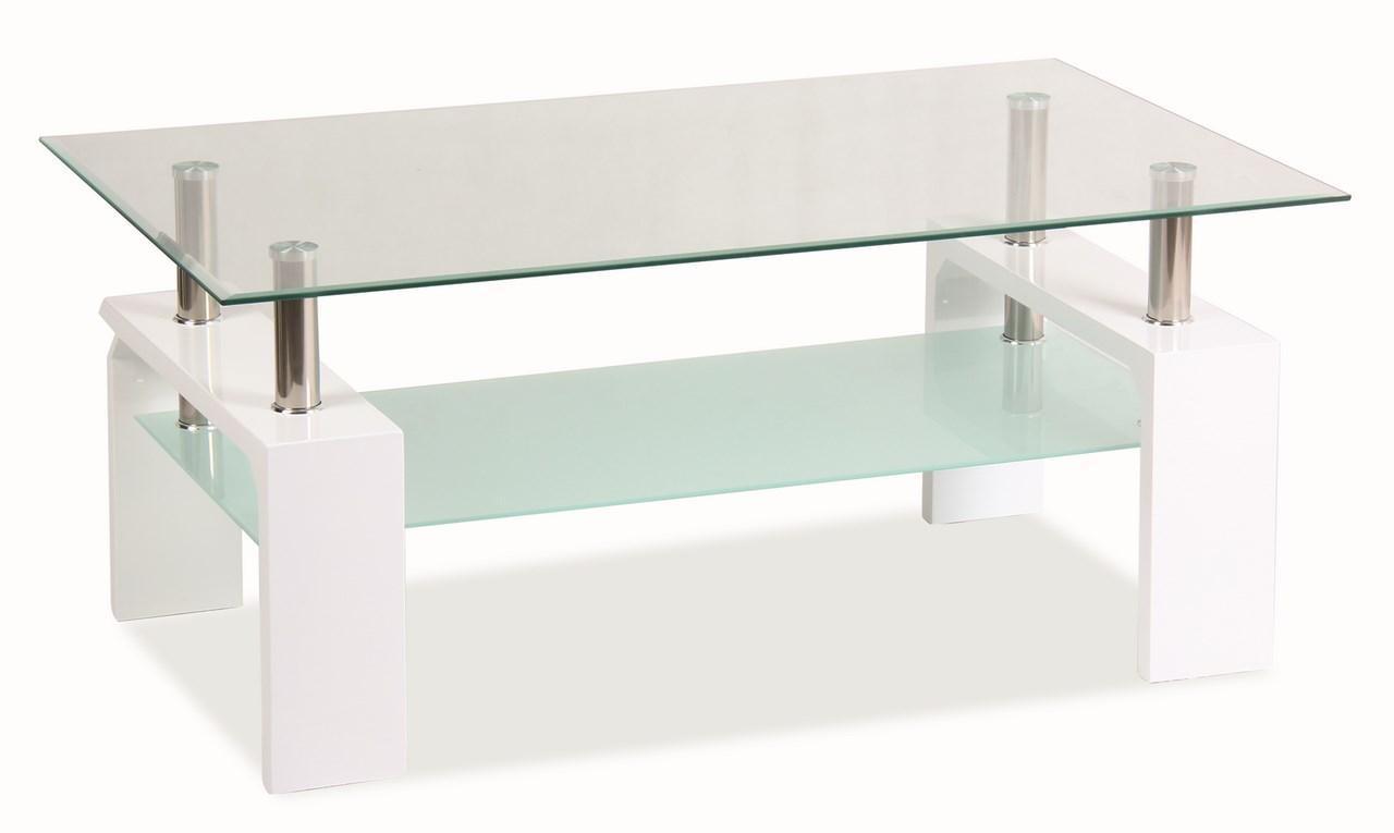 LISA BASIC, konferenční stolek, bílý