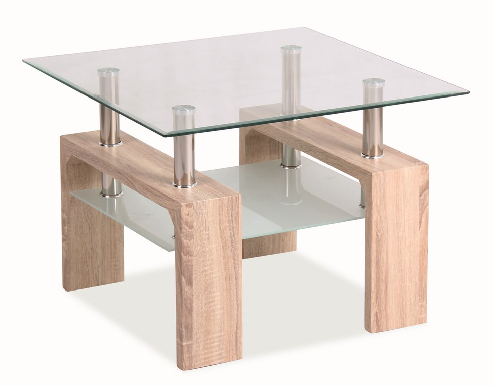 LISA D BASIC, konferenční stolek, dub sonoma