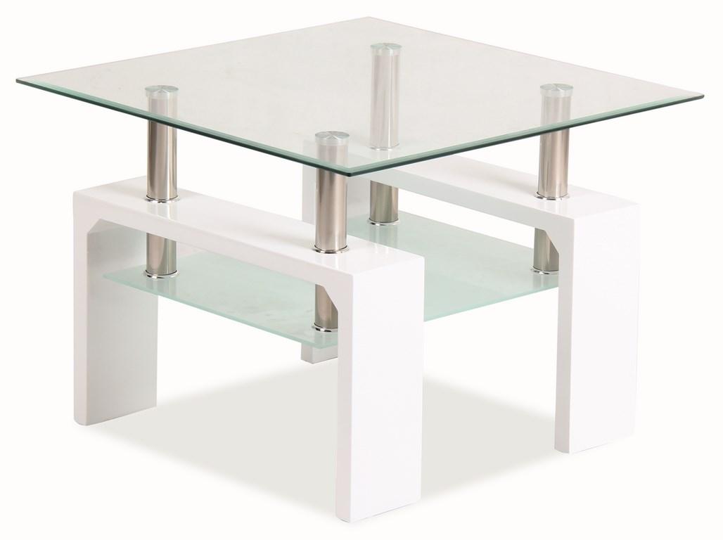 LISA D BASIC, konferenční stolek, bilý