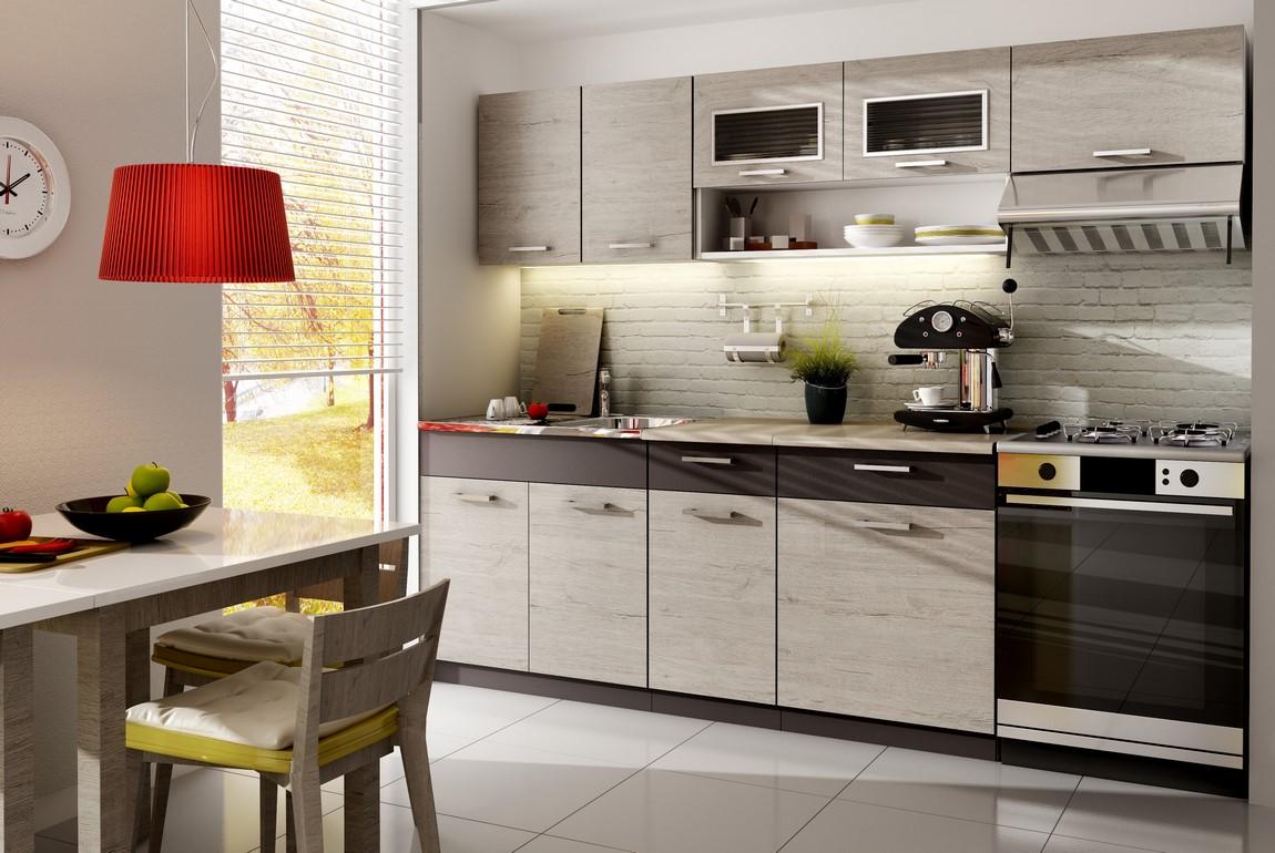 Smartshop Kuchyně MORENO 260 cm, dub picard