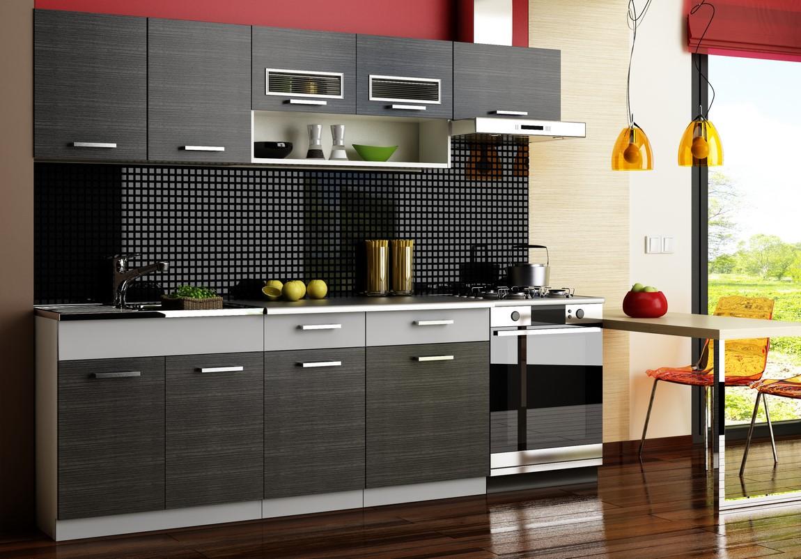 Smartshop Kuchyně MORENO 260 cm, šedá