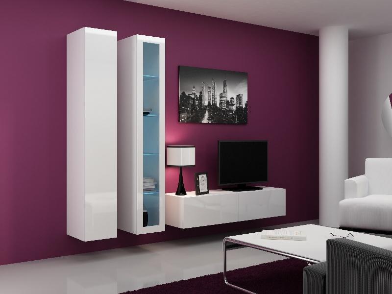 CAMA Obývací stěna VIGO 10, bílá/bílý lesk