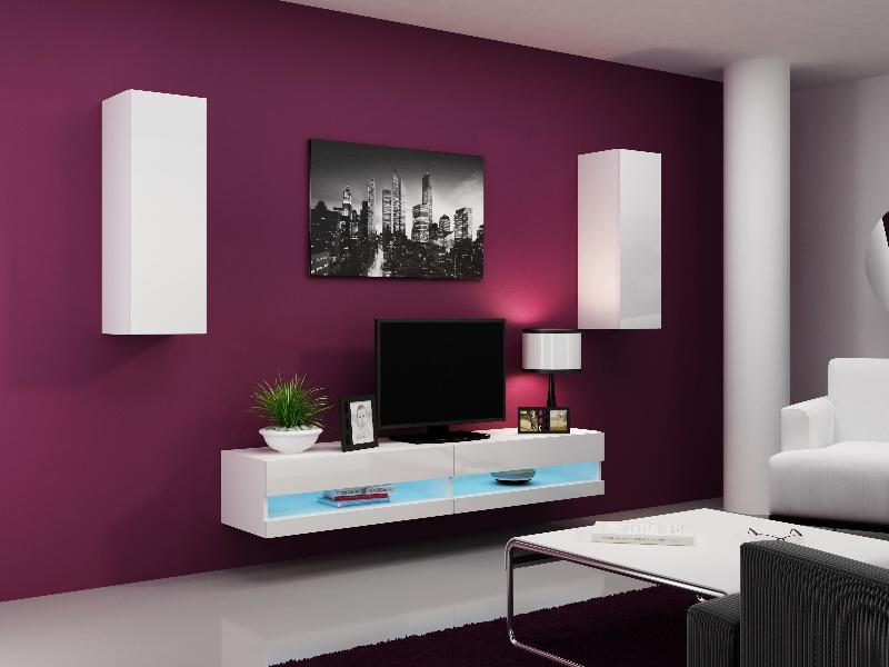 CAMA Obývací stěna VIGO NEW 10, bílá/bílý lesk