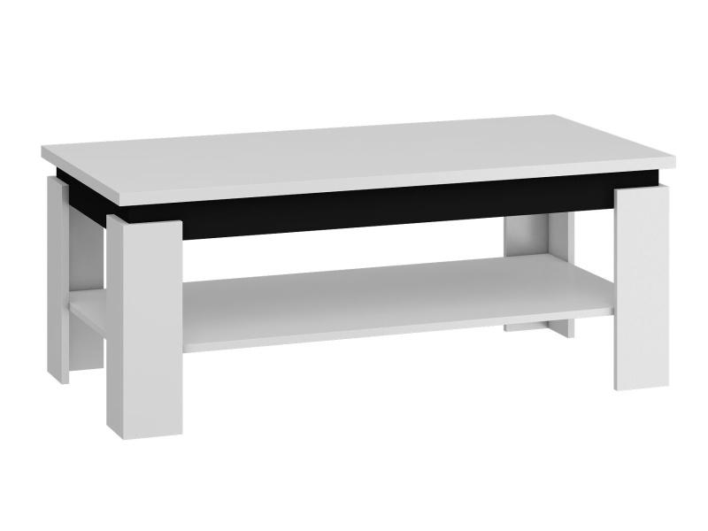 Konferenční stolek BETA, bílá/černý lesk