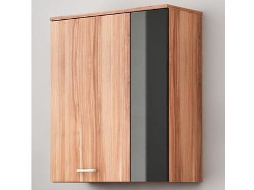 MORAVIA FLAT SKY, závěsná skříňka, švestka/černý lesk