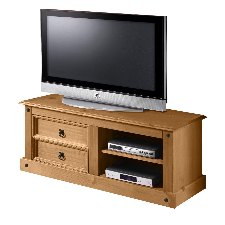 TV stolek CORONA, masiv borovice, vosk