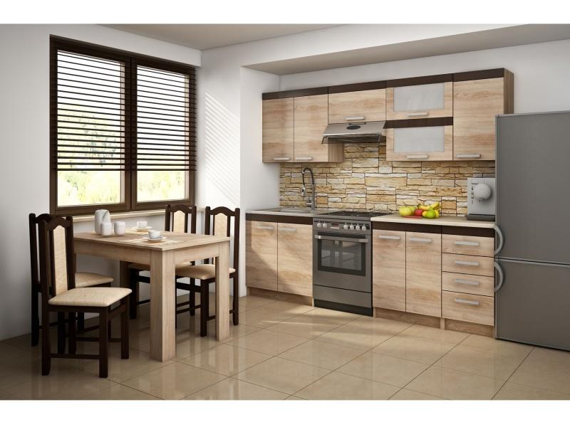 MORAVIA FLAT Kuchyně MILO 180/240, vzorová sestava, dub sonoma