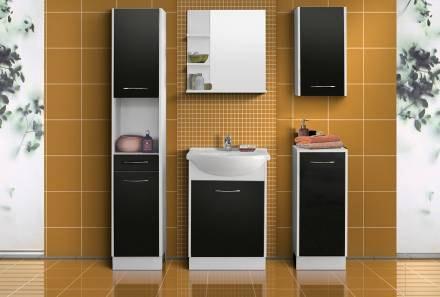 Extom NANCY, koupelnová sestava černá, BEZ UMYVADLA
