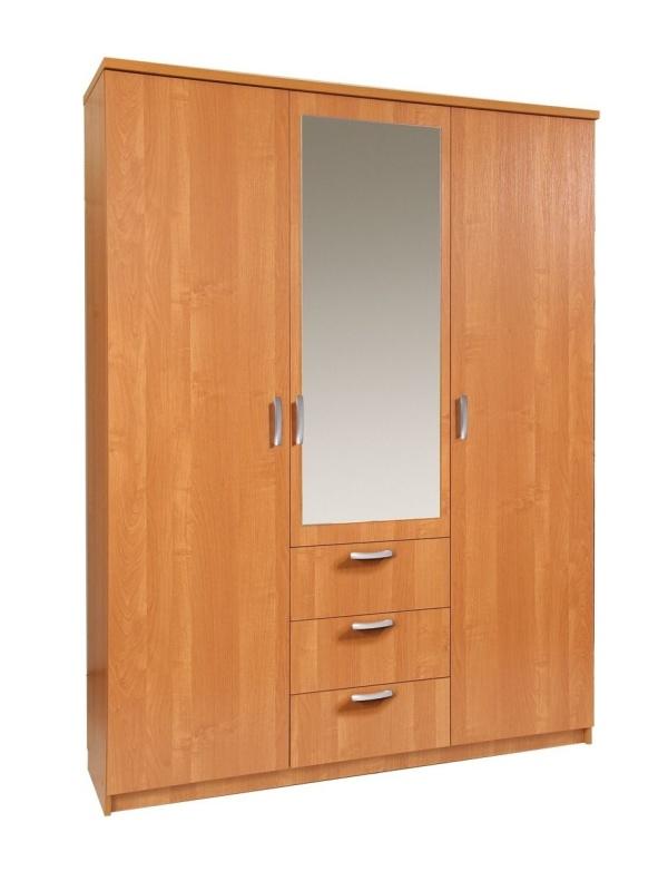 MORAVIA FLAT Šatní skříň PARIS 150/60 se zrcadlem, barva: