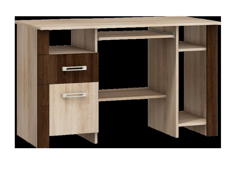 MORAVIA FLAT Studentský PC stůl HUGO mat, dub sonoma/dub sonoma tmavý