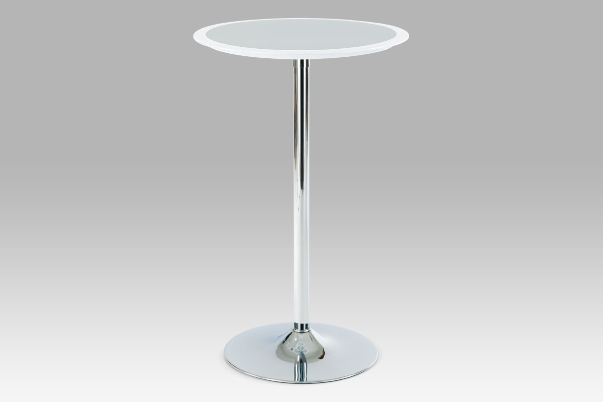 Autronic Barový stůl AUB-6050 WT, bílo-stříbrný plast