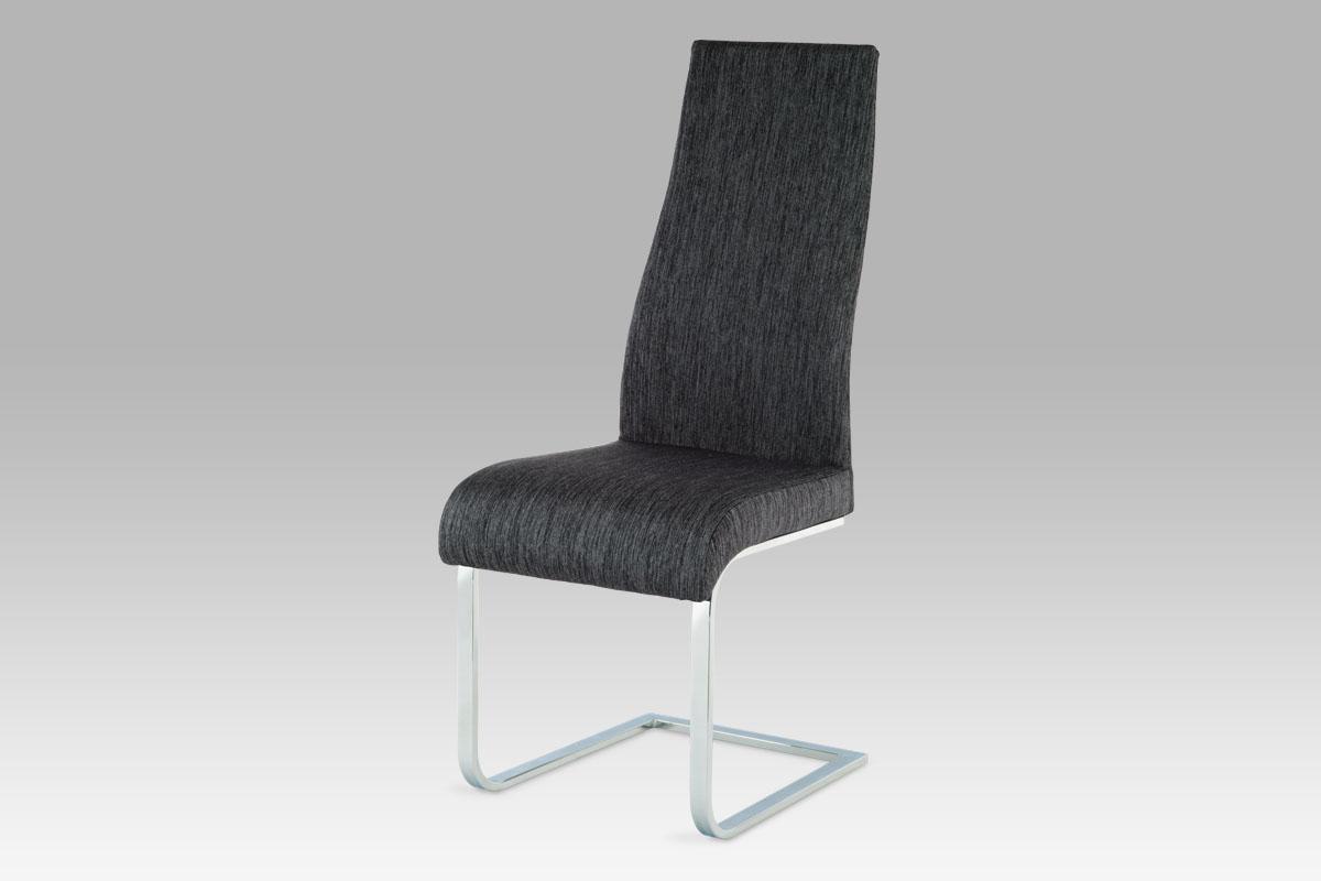 Autronic Jídelní židle AC-1817 BK2, chrom / látka černá