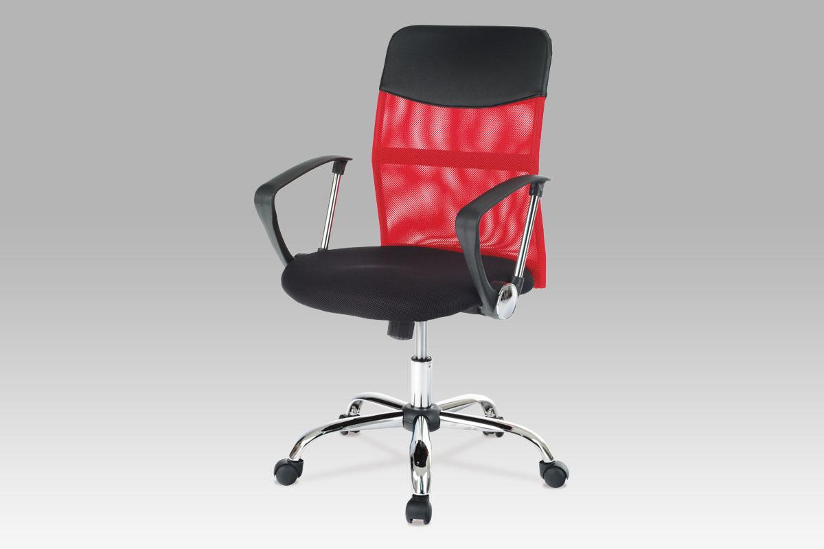 Autronic Kancelářská židle KA-E310 RED, látka MESH červená