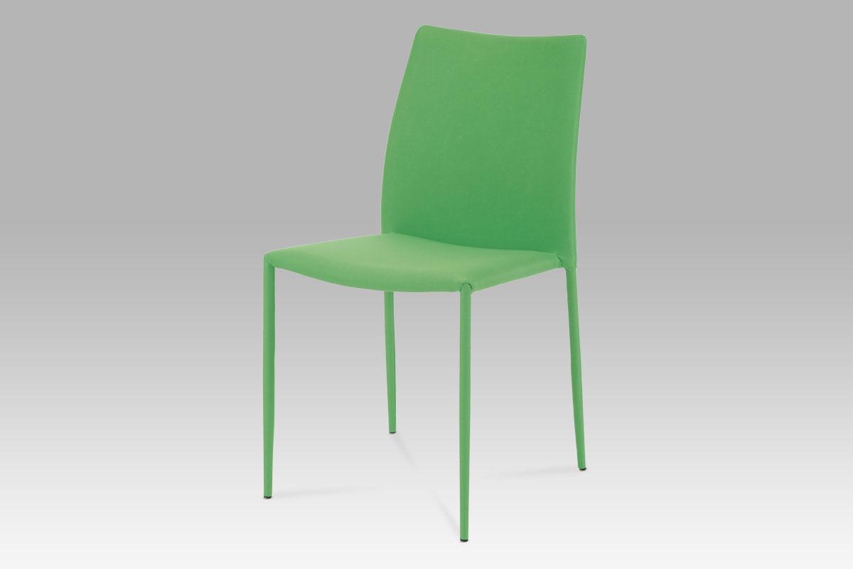 Autronic Jídelní židle stohovatelná, látka zelená WE-5015 GRN2