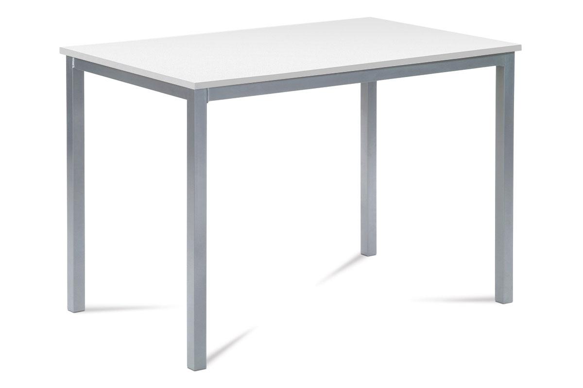 Jídelní stůl GDT-202 WT, bílá / šedý lak