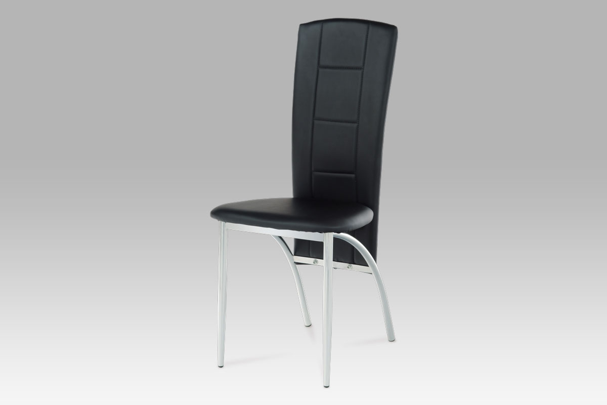 Autronic Jídelní židle, chrom/koženka černá AC-1019 BK