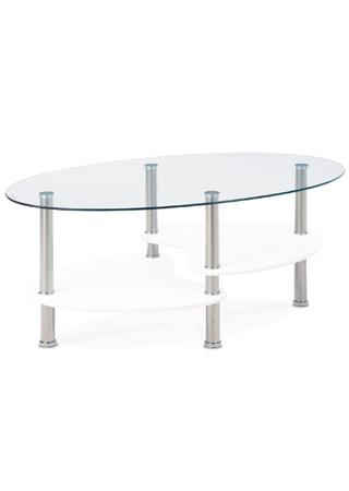 Autronic Konferenční stolek ACT-007 WT, sklo/bílá