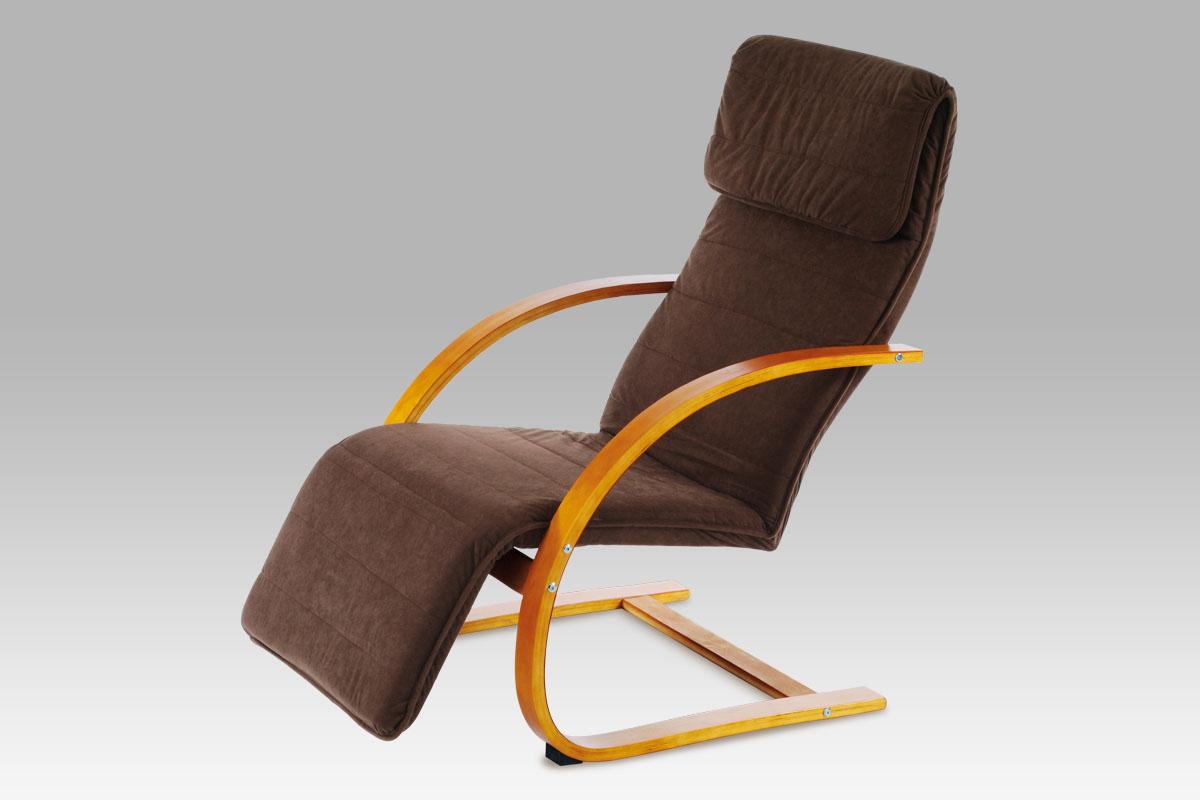 Smartshop Relaxační křeslo QR-31 TR2, třešeň/potah tmavě hnědý