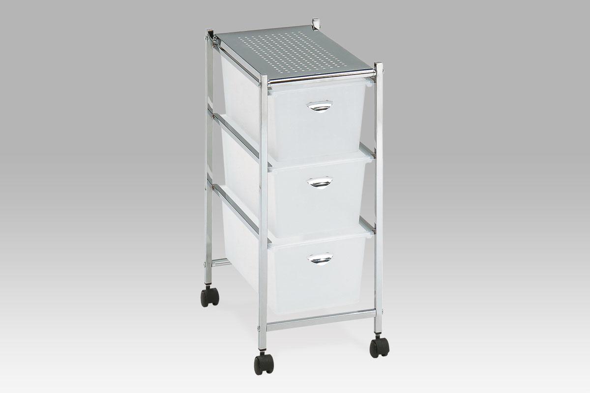 Autronic Úložný regál-3 zásuvky, chrom/plast GC0304-3