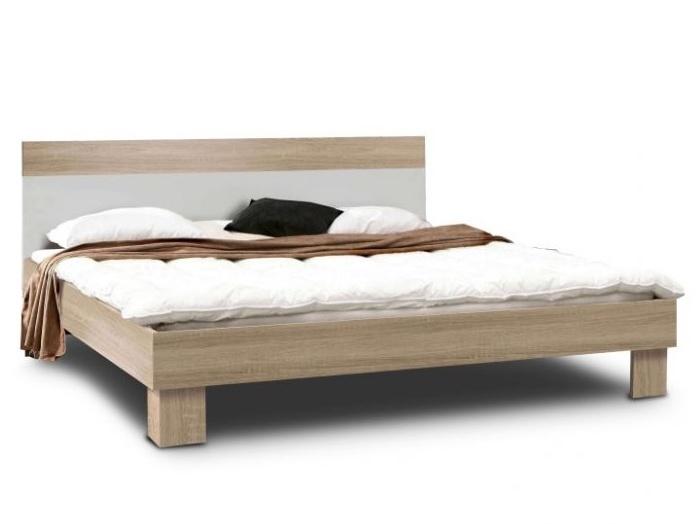 Forte GOLDSTAR, postel 160x200 cm, dub sonoma/bílá