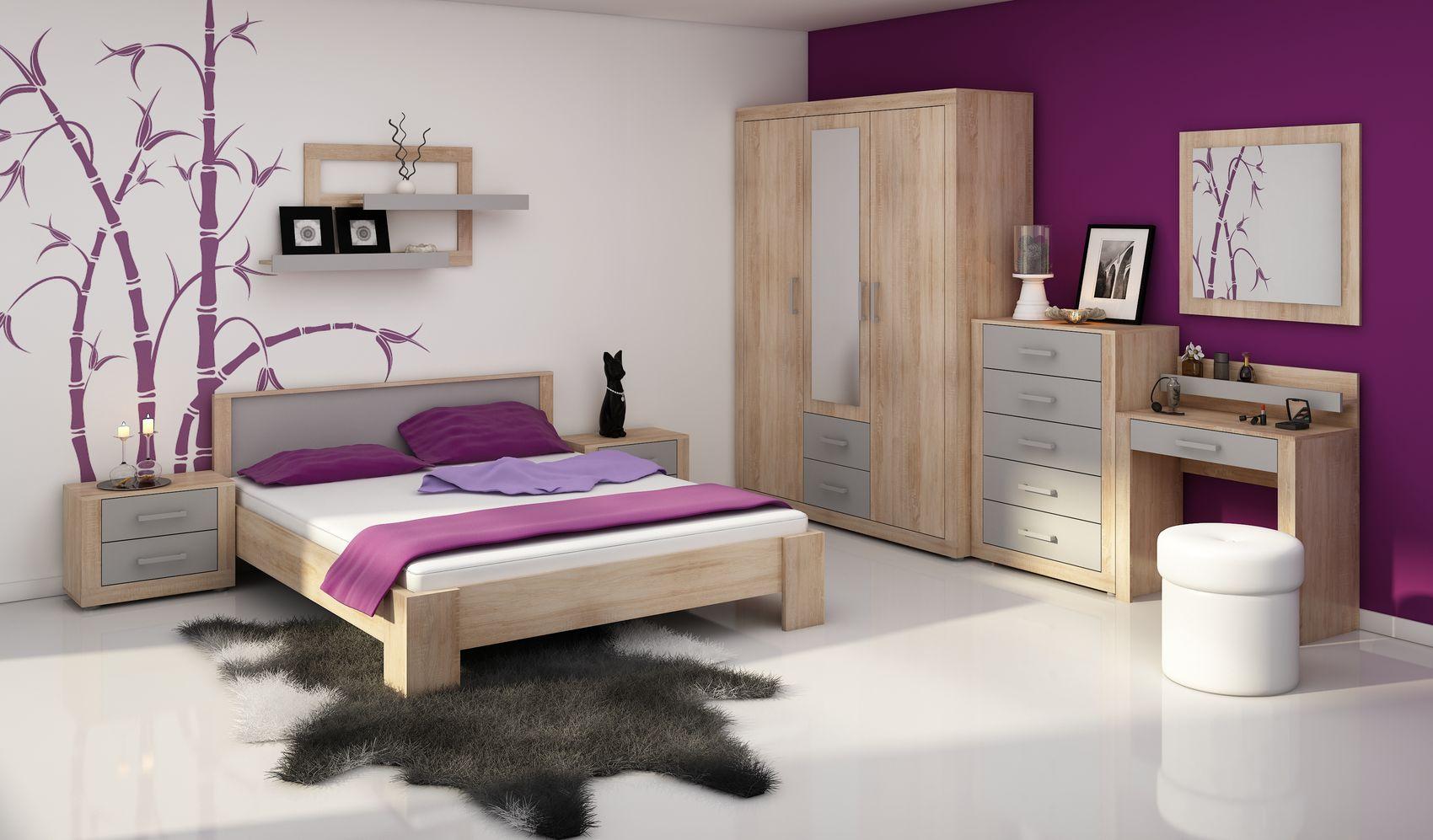 MORAVIA FLAT VIKY, ložnice, dub sonoma/grafit