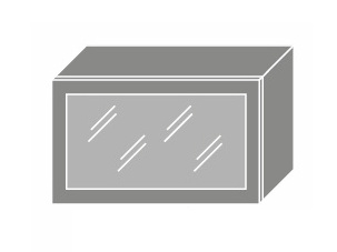 Extom SILVER+, skříňka horní prosklená W4bs 60 ALU, grey