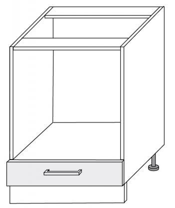 Extom *SILVER+, skříňka dolní D11k 60, korpus: grey