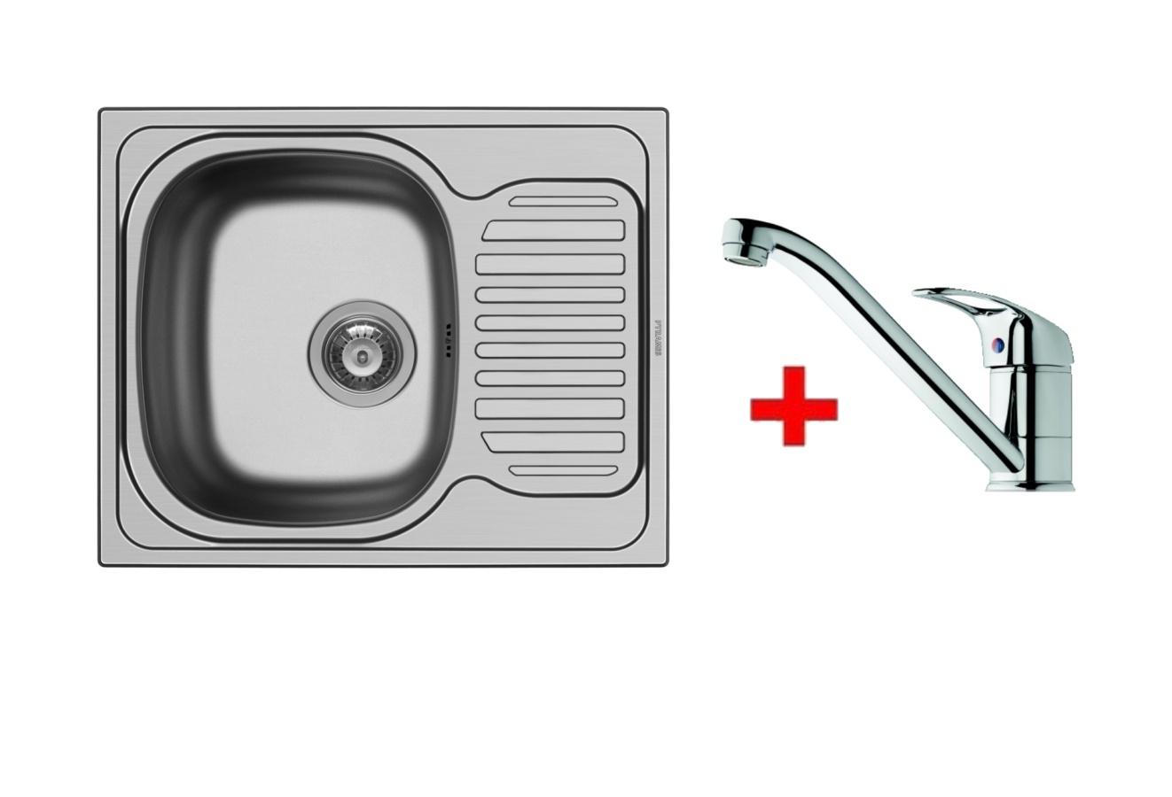 Pyramis SET dřez AURORA + páková baterie ACCEL-CHROM